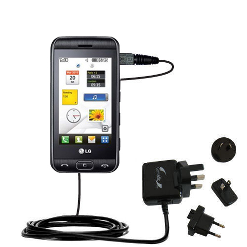 International Wall Charger compatible with the LG Viewty Smile