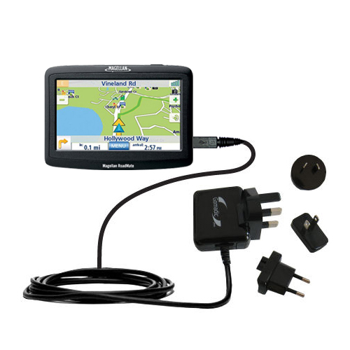 compact and retractable USB Power Port Ready charge cable designed for the Magellan Roadmate 1412 and uses TipExchange