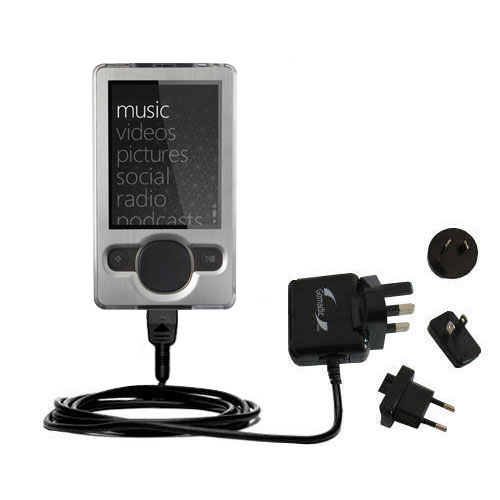 International Wall Charger compatible with the Microsoft Zune (2nd and Latest Generation)