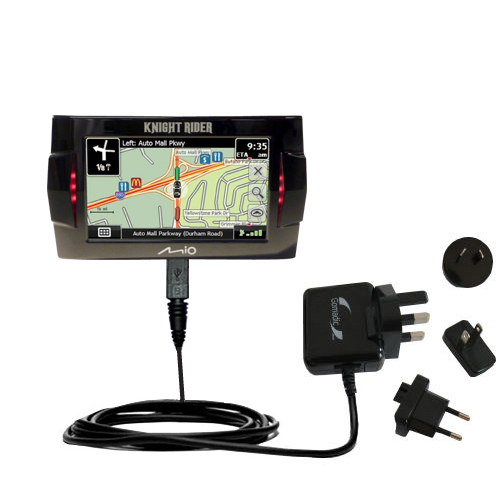 International Wall Charger compatible with the Mio Knight Rider