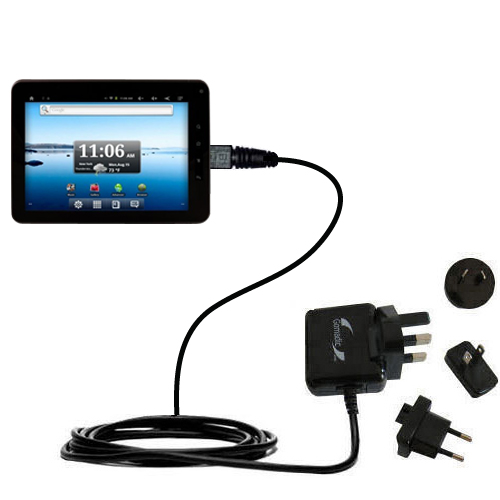 International Wall Charger compatible with the Nextbook Premium8 Tablet