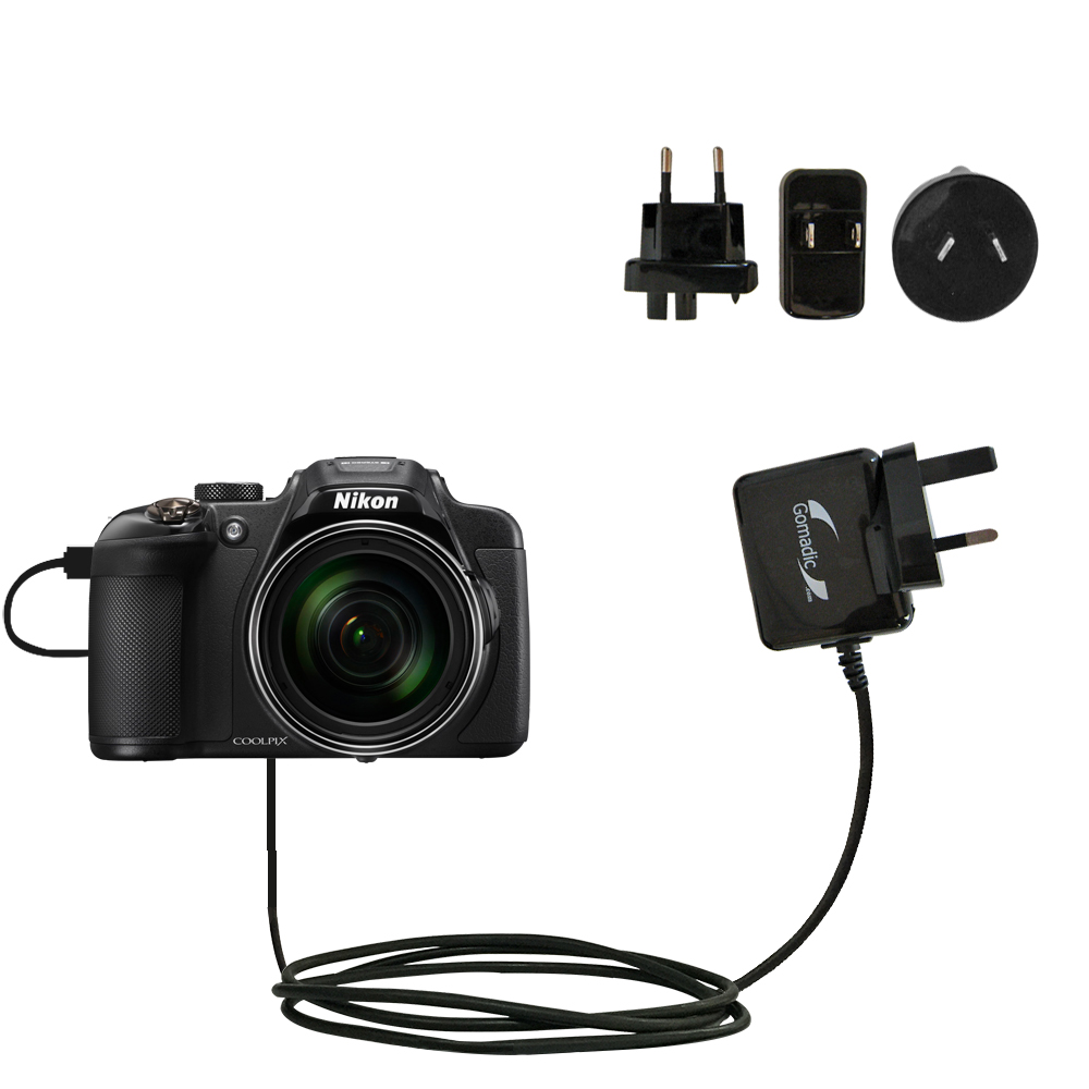 Uses TipExchange to Charge up to Two Devices at Once Gomadic Multi Port AC Home Wall Charger Designed for The Nikon Coolpix P610