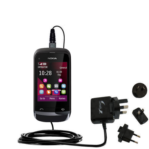 International Wall Charger compatible with the Nokia C2-O2