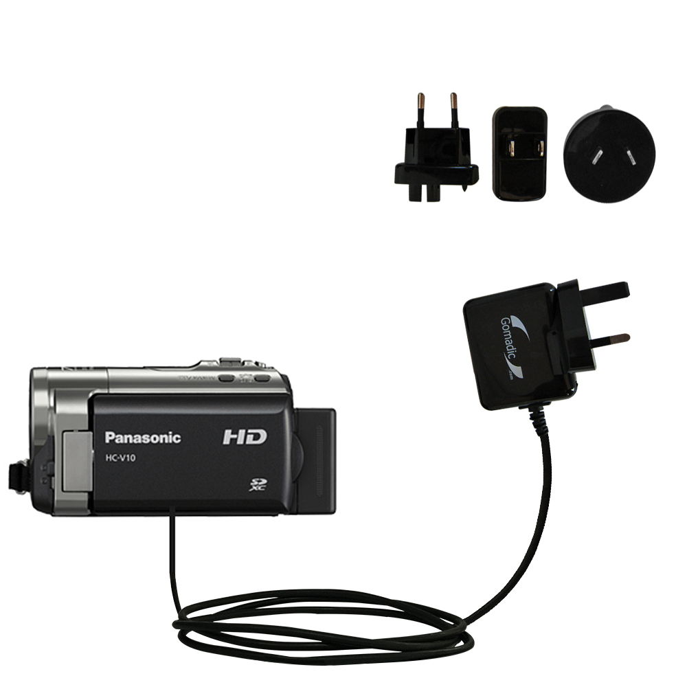 International Wall Charger compatible with the Panasonic HC-V10