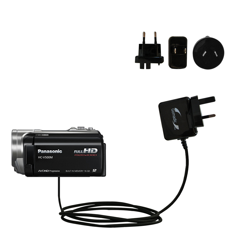 International Wall Charger compatible with the Panasonic HC-V500