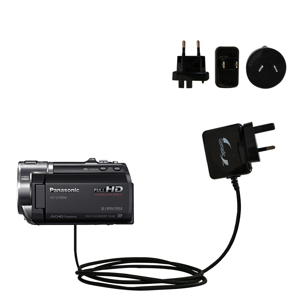 International Wall Charger compatible with the Panasonic HC-V700