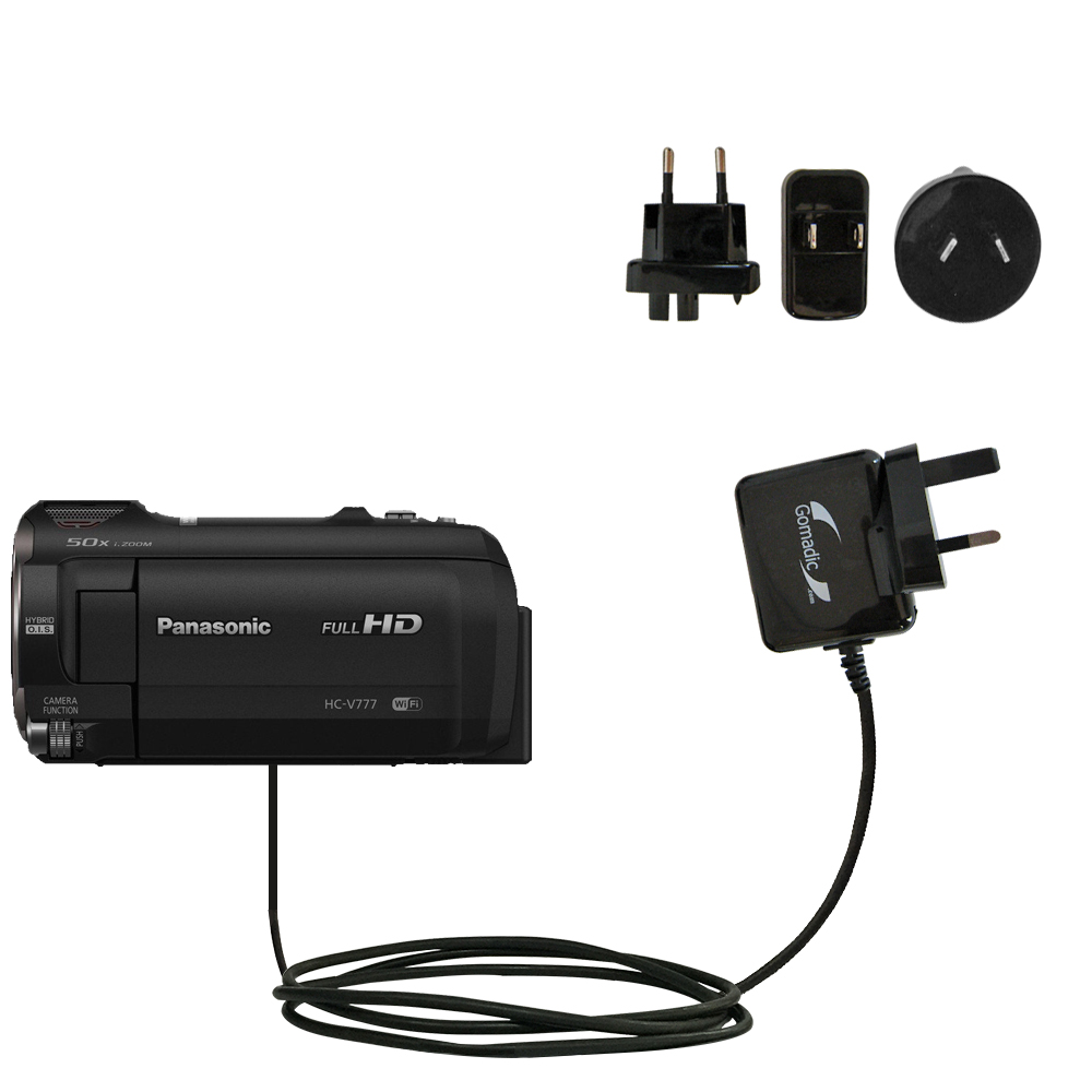 International Wall Charger compatible with the Panasonic HC-V770 / HC-V777