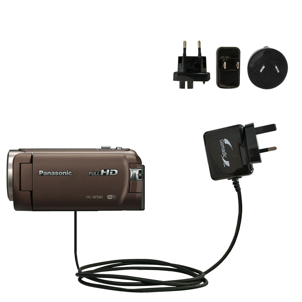International Wall Charger compatible with the Panasonic HC-W580