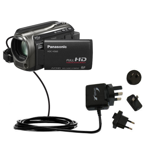 International Wall Charger compatible with the Panasonic HDC-HS60 Video Camera