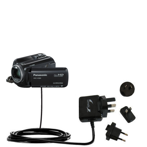 International Wall Charger compatible with the Panasonic HDC-HS80 Camcorder