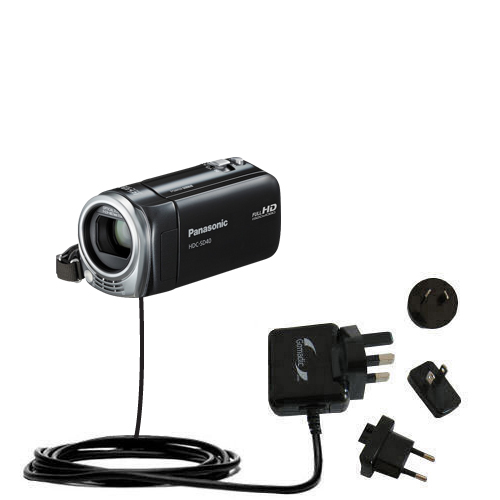 International Wall Charger compatible with the Panasonic HDC-SD40 Camcorder