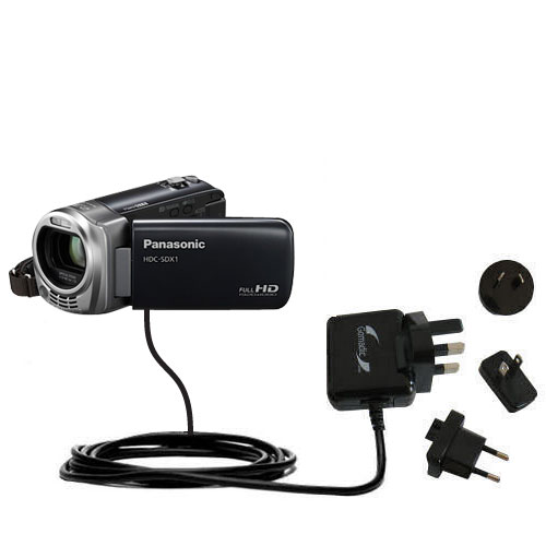 International Wall Charger compatible with the Panasonic HDC-SDX1H HD Camcorder
