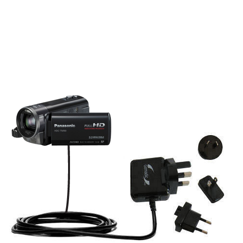 International Wall Charger compatible with the Panasonic HDC-TM90 Camcorder