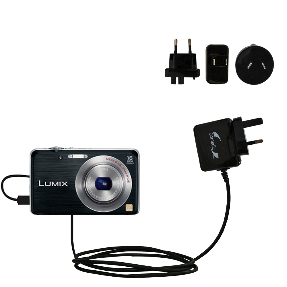 International Wall Charger compatible with the Panasonic Lumix DMC-FH8K