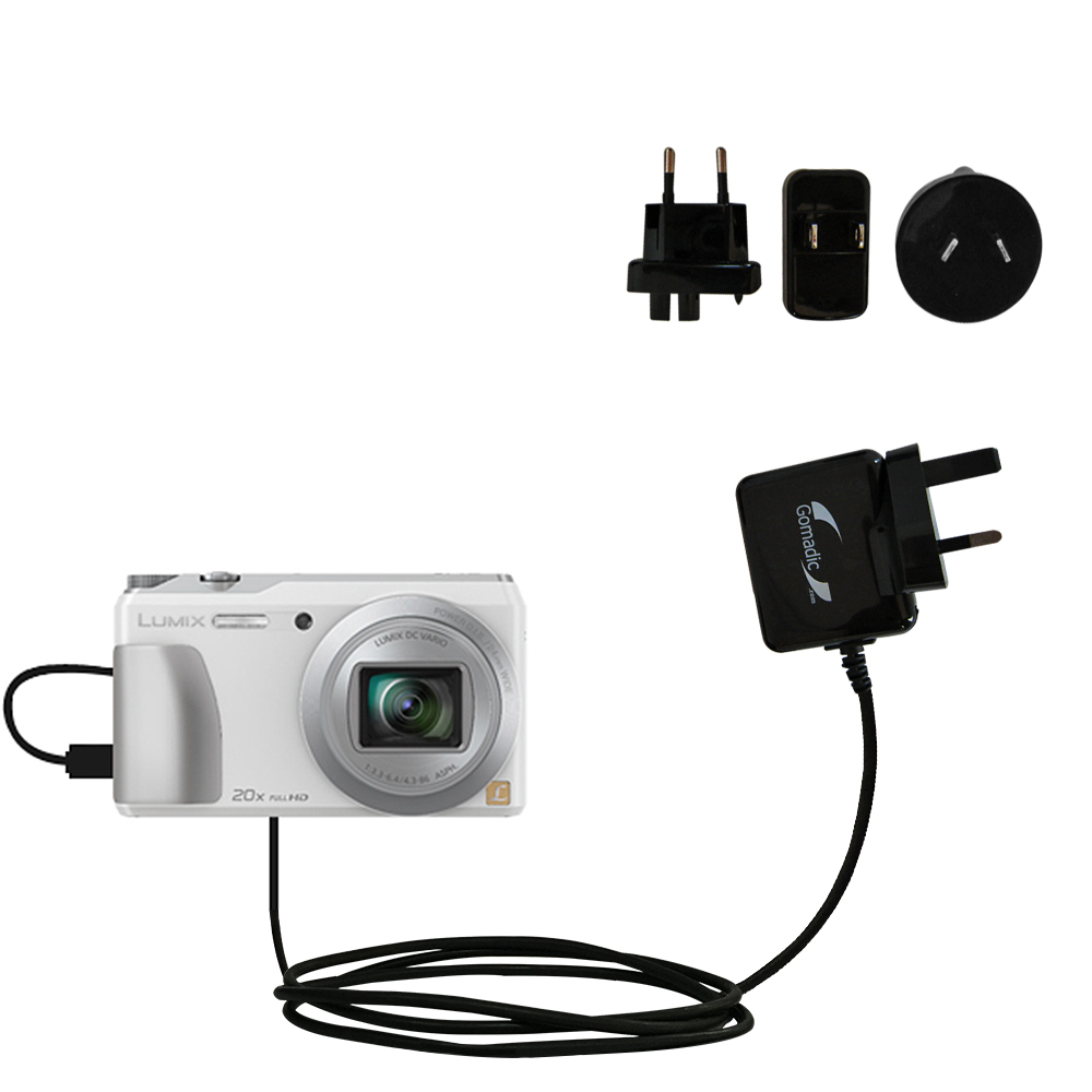 International Wall Charger compatible with the Panasonic Lumix DMC-ZS20W