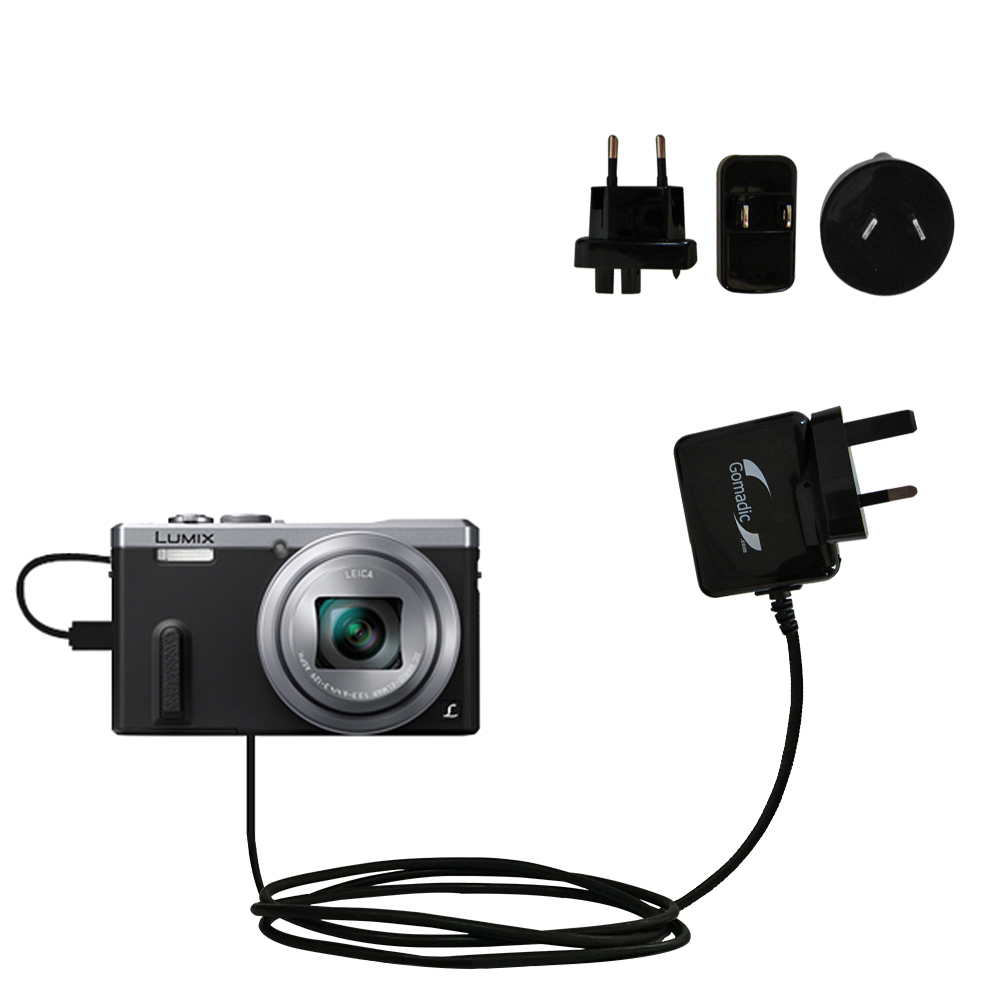 International Wall Charger compatible with the Panasonic Lumix DMC-ZS40