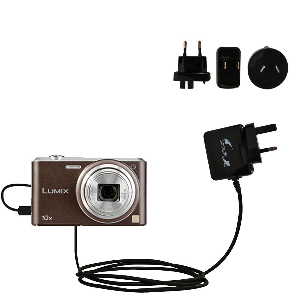 International Wall Charger compatible with the Panasonic Lumix SZ3 / DMC-SZ3