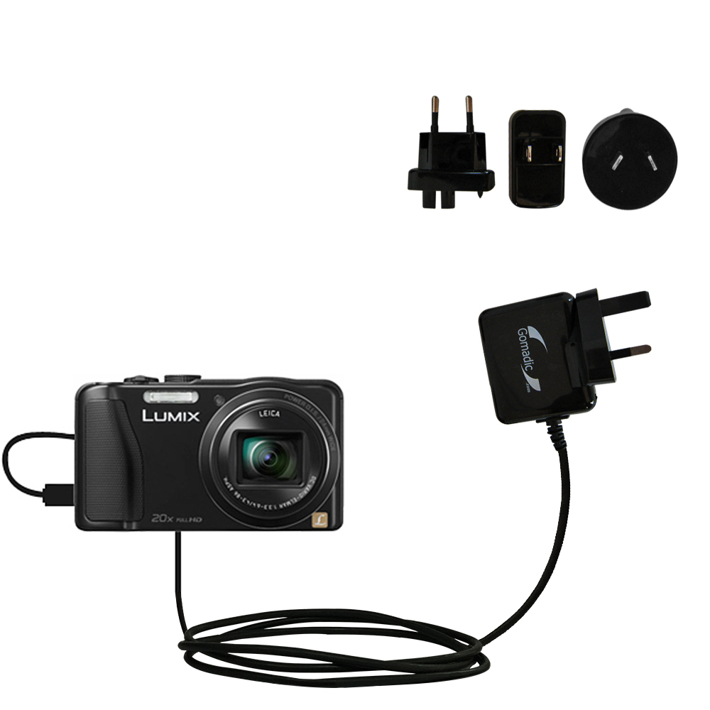 International Wall Charger compatible with the Panasonic Lumix ZS25 / ZS30