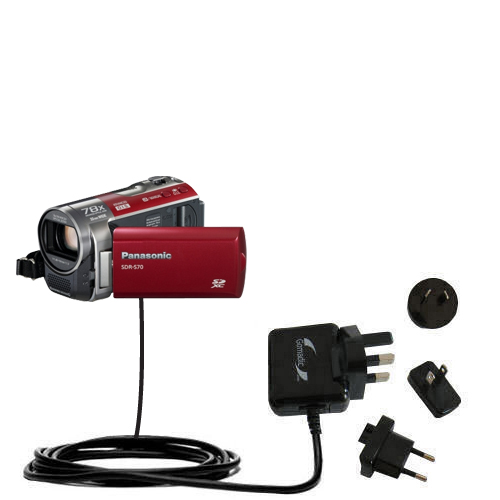 International Wall Charger compatible with the Panasonic SDR-570 Camcorder