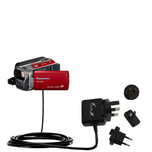 International Wall Charger compatible with the Panasonic SDR-H100 Camcorder