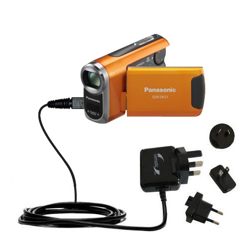 International Wall Charger compatible with the Panasonic SDR-SW21 Video Camera
