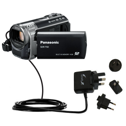International Wall Charger compatible with the Panasonic SDR-T50 Video Camera