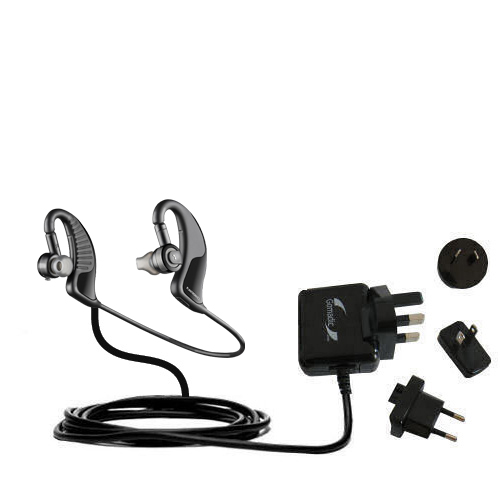International Ac Home Wall Charger Suitable For The Plantronics Backbeat 903 Wireless Stereo Headphones 10w Charge