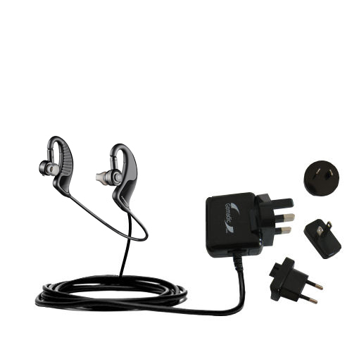 International Wall Charger compatible with the Plantronics BackBeat