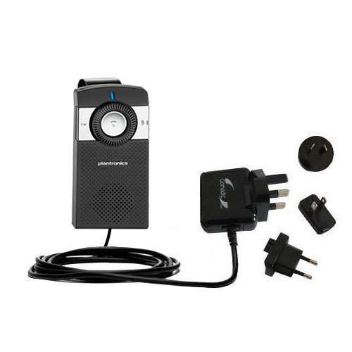 International Wall Charger compatible with the Plantronics K100 In-Car Speakerphone