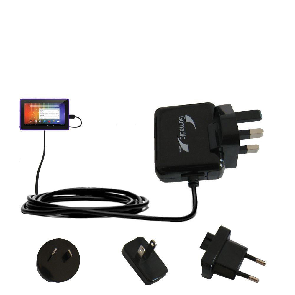 International Wall Charger compatible with the Playtime Tabby 7DU - 7 Inch