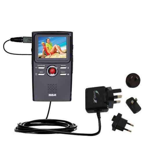 International Wall Charger compatible with the RCA EZ2000 Small Wonder HD Camcorder