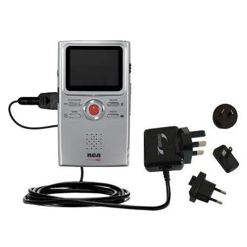 International Wall Charger compatible with the RCA EZ409HD Small Wonder Digital Camcorders