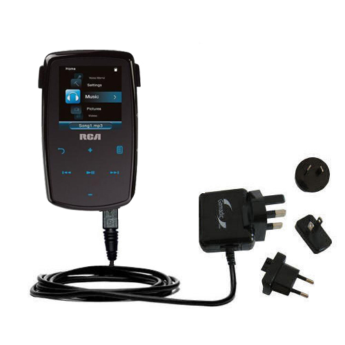 International Wall Charger compatible with the RCA M3804 Lyra Digital Media Player