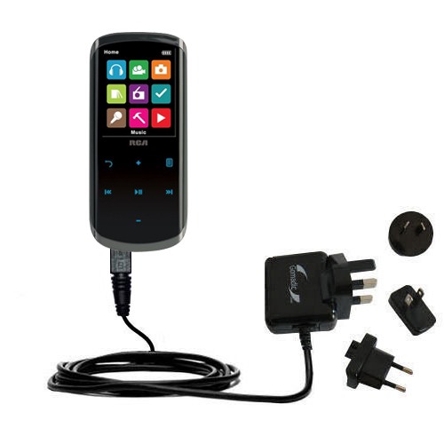 International Wall Charger compatible with the RCA M4608 Lyra Digital Media Player