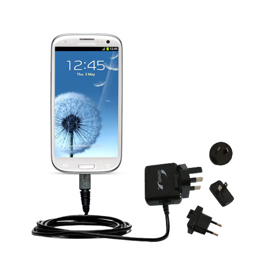 International Wall Charger compatible with the Samsung Galaxy S III