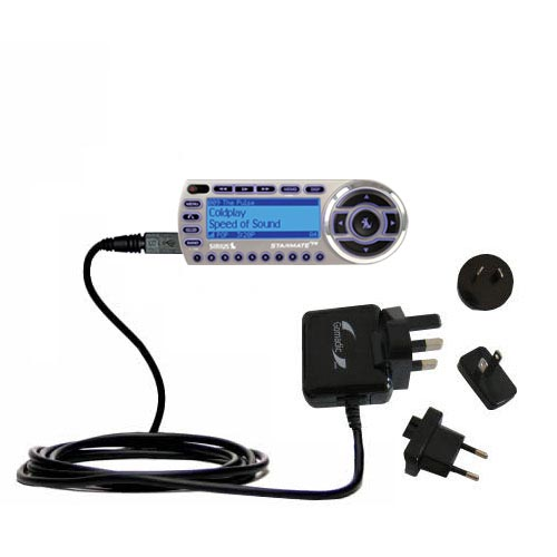 International Wall Charger compatible with the Sirius StarMate ST2