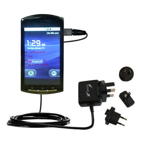 International Wall Charger compatible with the Sony Ericsson LT15i