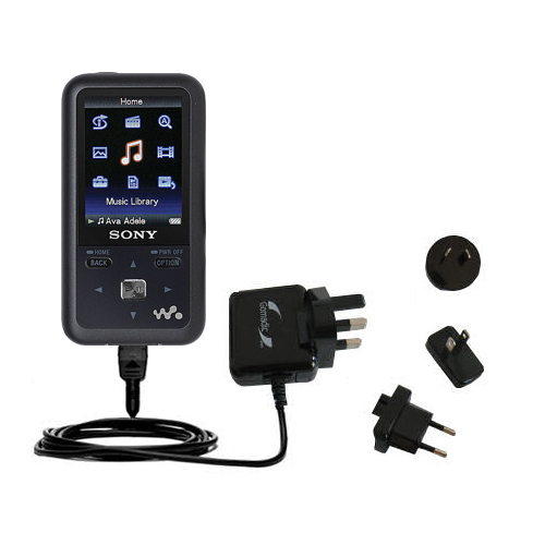 International Wall Charger compatible with the Sony Walkman NWZ-S616