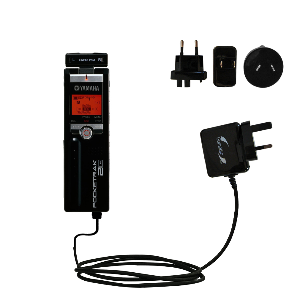 International Wall Charger compatible with the Yamaha Pocketrak 2G