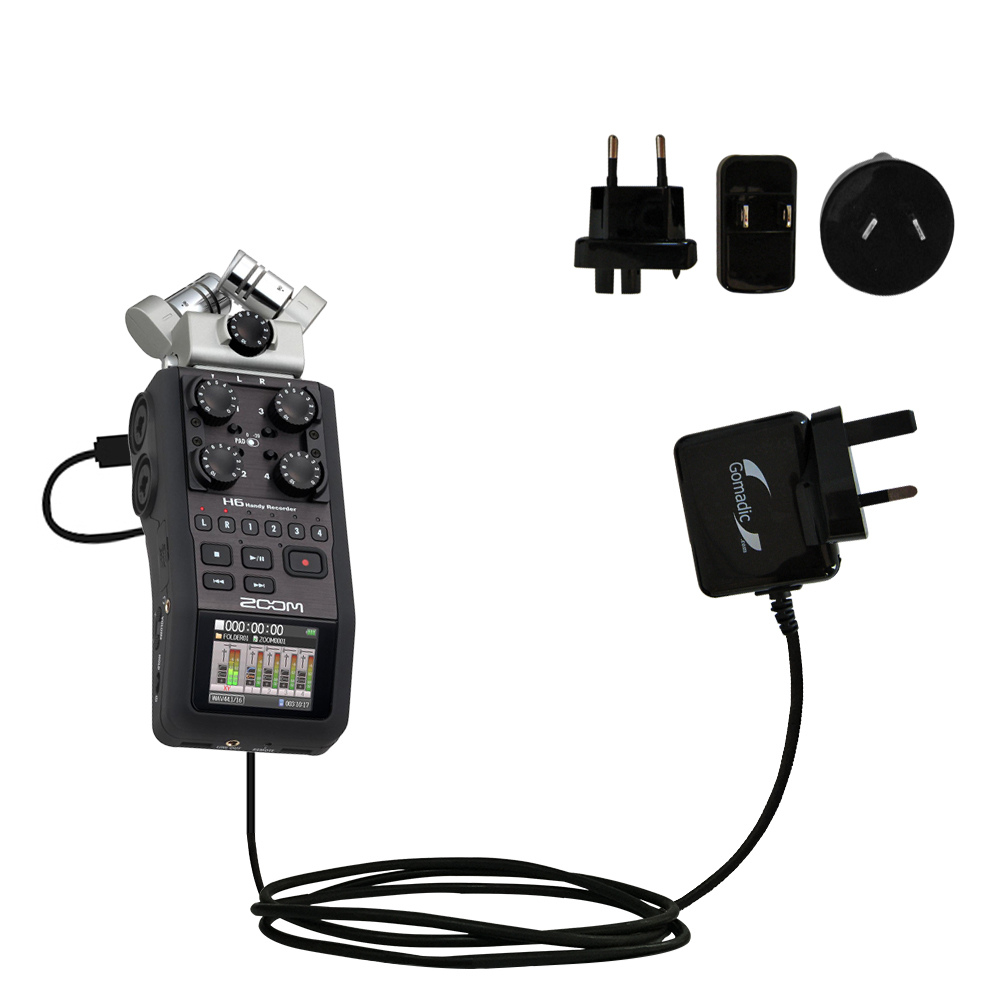 International Wall Charger compatible with the Zoom H6