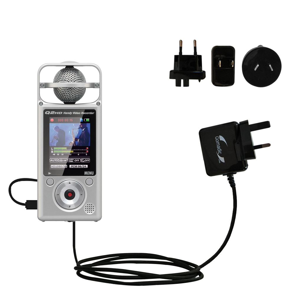International Wall Charger compatible with the Zoom Q2HD