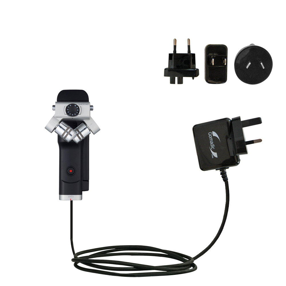 International Wall Charger compatible with the Zoom Q8 Handy Video Recorder