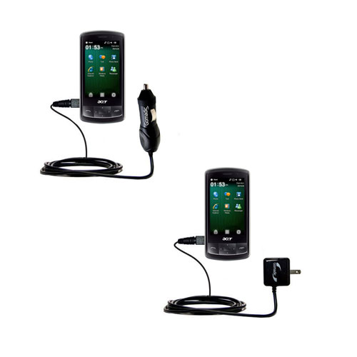 Car & Home Charger Kit compatible with the Acer beTouch E200 E210