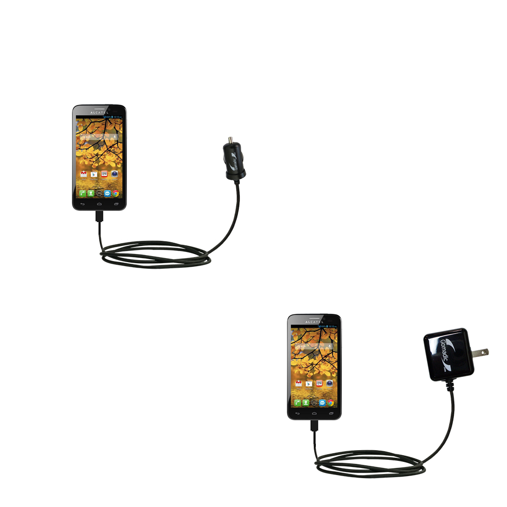 Car & Home Charger Kit compatible with the Alcatel One Touch Fierce