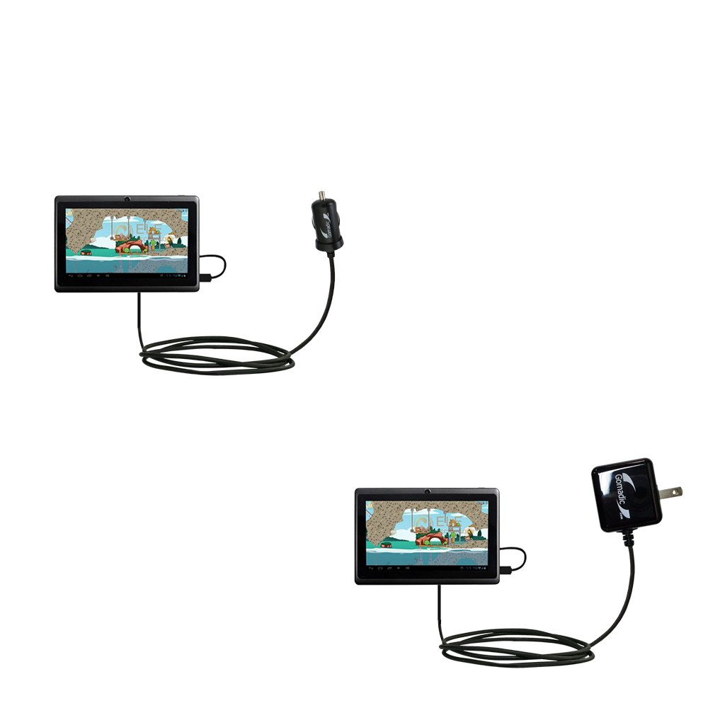 Car & Home Charger Kit compatible with the Android Allwinner A13