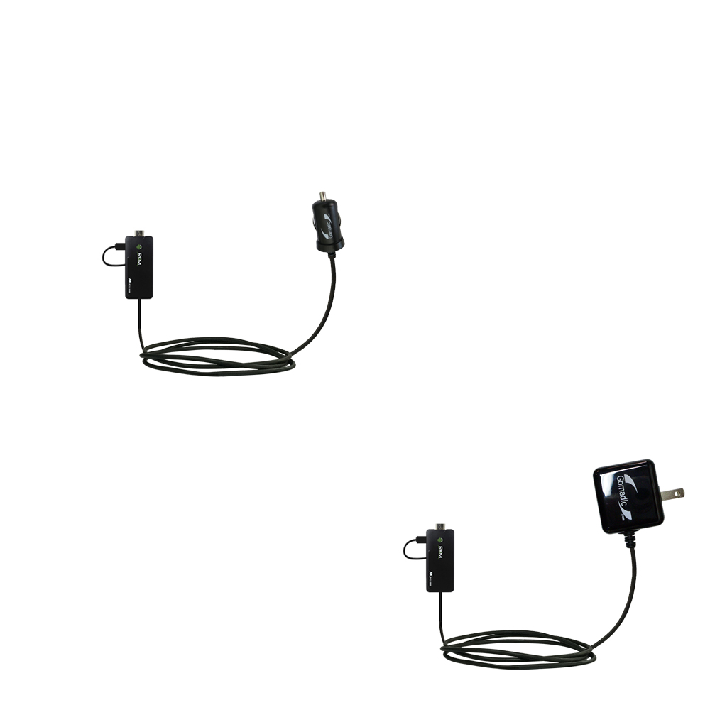 Car & Home Charger Kit compatible with the Android MK802 Plus