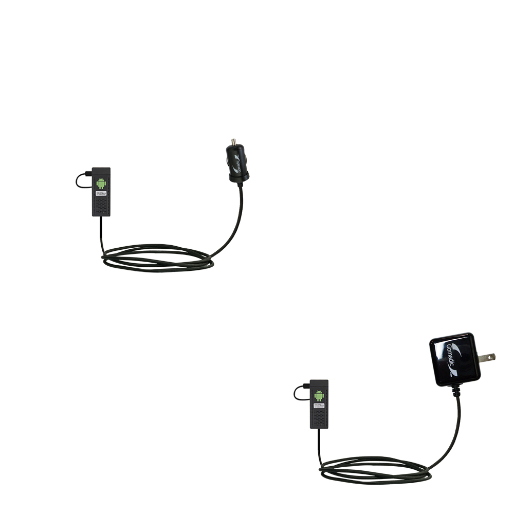Car & Home Charger Kit compatible with the Android UG802 Mini PC