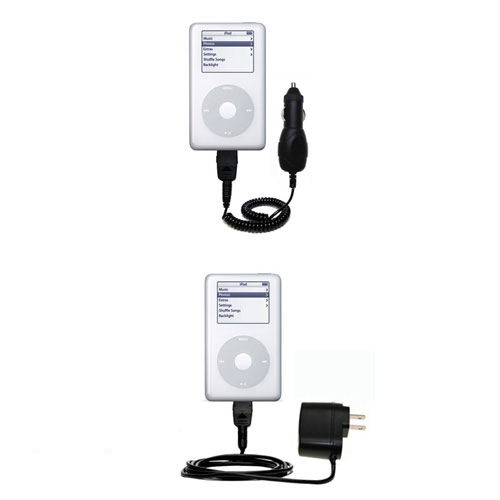 Car & Home Charger Kit compatible with the Apple iPod 4G (20GB)
