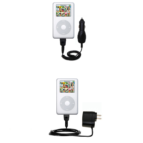 Car & Home Charger Kit compatible with the Apple iPod Photo (30GB)