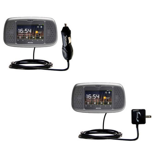 Car & Home Charger Kit compatible with the Archos 35 Home Connect